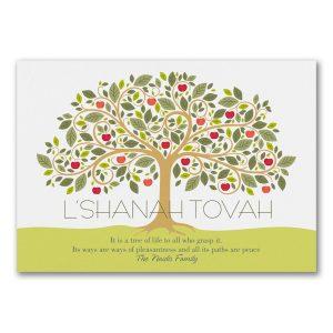 Apple Tree Jewish New Year Card Icon