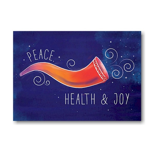 Colorful Shofar II Jewish New Year Card Icon