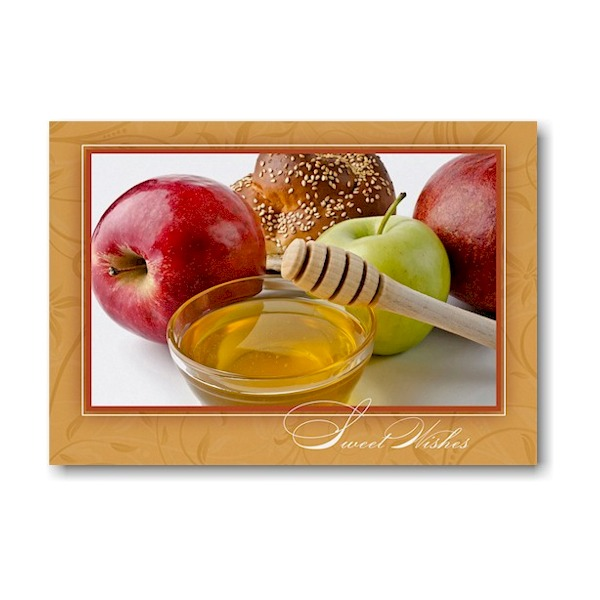 Honey and Apples Jewish New Year Card Icon