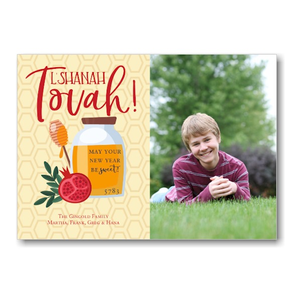 Honeycomb Blessings Jewish New Year Card Icon