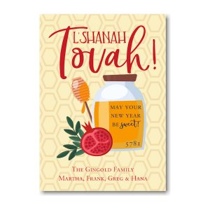 Honeycomb Sweet Blessings Jewish New Year Card Icon