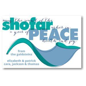 Shofar of Peace Rosh Hashanah Card Icon