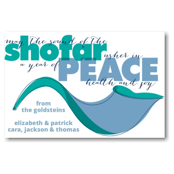 Shofar of Peace Rosh Hashanah Card Icon