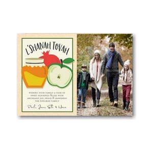 Sweet Trio Frame Jewish New Year Card Icon