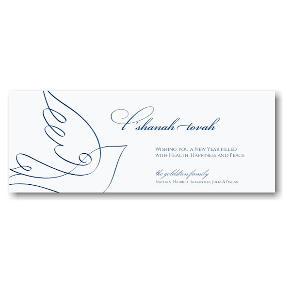 Dove of Peace Jewish New Year Card Sample