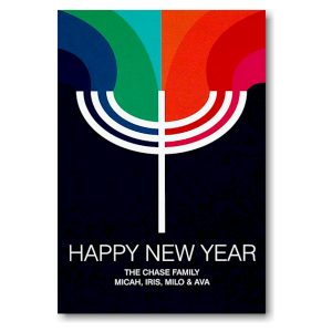 Prismatic Light Jewish New Year Card Icon
