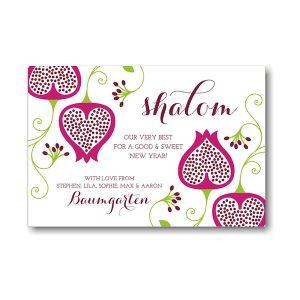 Shalom Floral Jewish New Year Card Icon