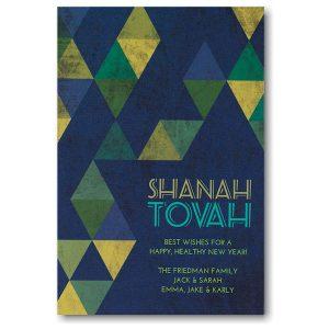 Star Parquet Jewish New Year Card Icon