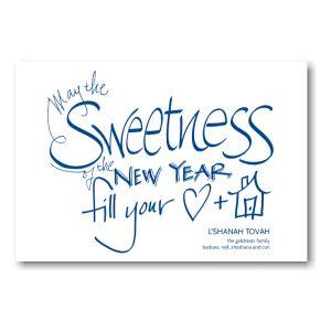 Sweetness Jewish New Year Card Icon