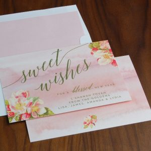 Apple Blossom Blessings Jewish New Year Card
