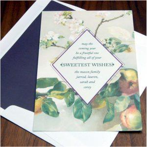 Apple Blossom Jewish New Year Card