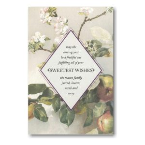 Apple Blossom Jewish New Year Card Icon
