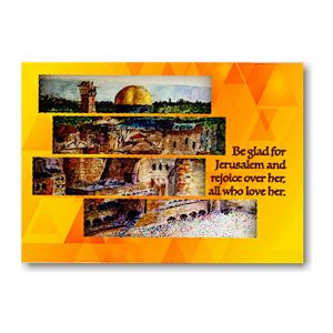Be Glad and Rejoice Jewish New Year Card Icon