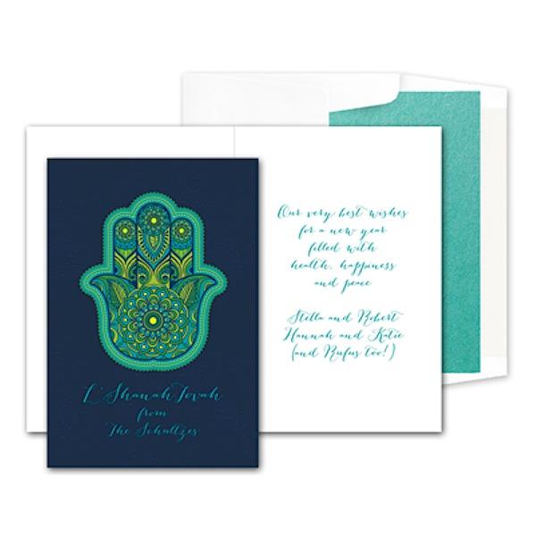 Chai Five Jewish New Year Card