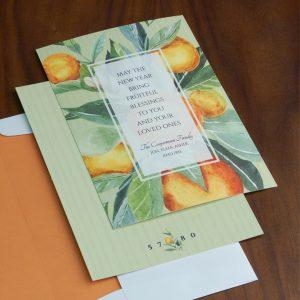 Citrus Celebration Jewish New Year Card