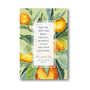 Citrus Celebration Jewish New Year Card Icon