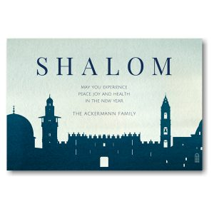 City of Peace Jewish New Year Card Icon