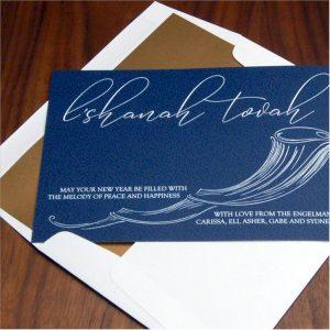 Flood of Melody Jewish New Year Card
