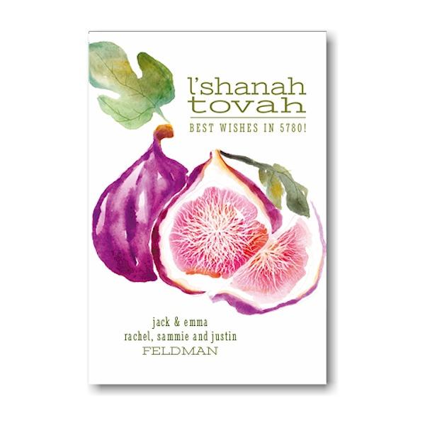 Fruitful Wishes II Jewish New Year Card Icon