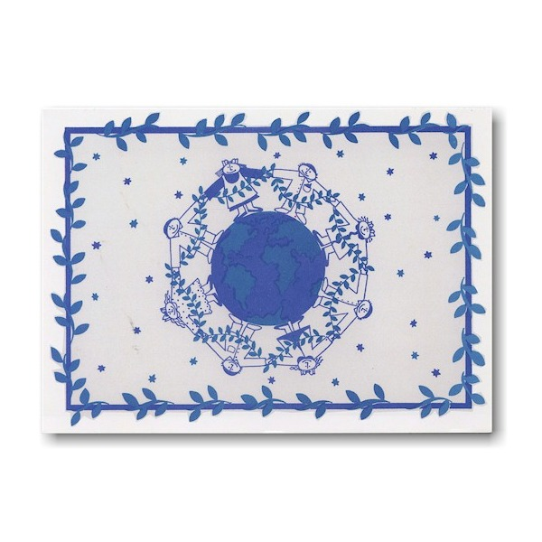 Peace Around the World Jewish New Year Card Icon
