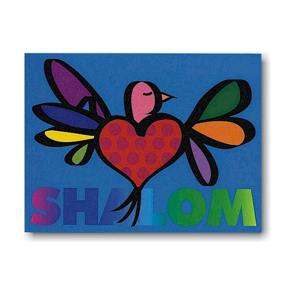 Peace and Love Dove Jewish New Year Card Icon