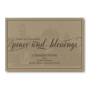 Spiritually Centered Jewish New Year Card Icon