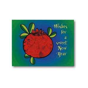 Sweet Wishes with Pomegranate Jewish New Year Card Icon