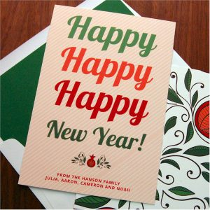 Filled with Happy Jewish New Year Card