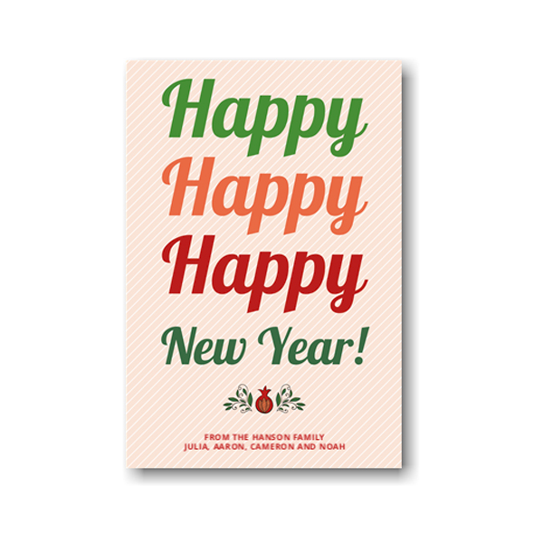 Filled with Happy Jewish New Year Card Icon