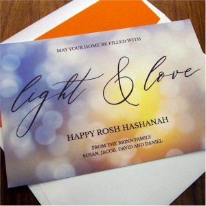 Light and Love Jewish New Year Card