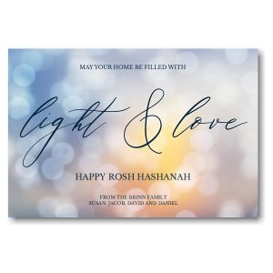 Light and Love Jewish New Year Card Icon