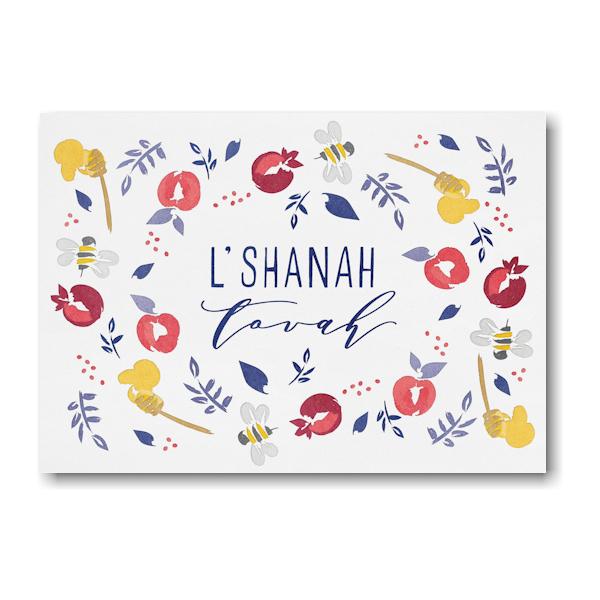 Fruitful Greetings Rosh Hashanah Card Icon