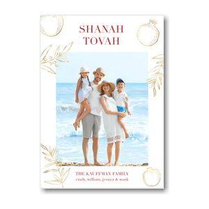 Golden Botanicals Jewish New Year Card Icon
