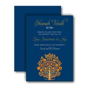 Golden Tree of Life Jewish New Year Card Icon