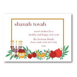 Health and Happiness Jewish New Year Card