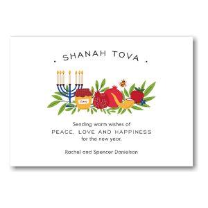 Peaceful Year Jewish New Year Card Icon