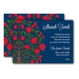 Pomegranate Tree Jewish New Year Card Icon