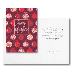 Pomegranate Wishes Jewish New Year Card