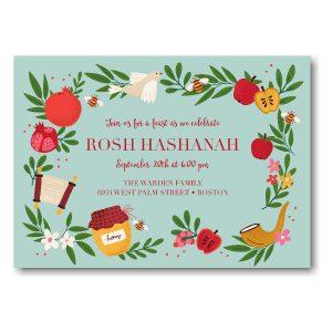 Rustic Harvest Rosh Hashanah Invitation