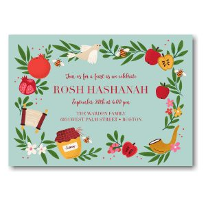 Rustic Harvest Rosh Hashanah Invitation Icon