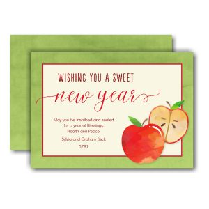 Sweet Apples Jewish New Year Card