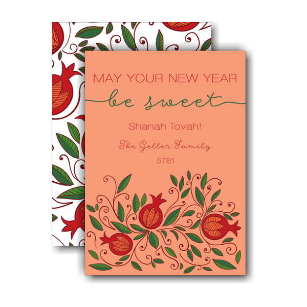Sweet Pomegranate Jewish New Year Card