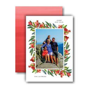 Watercolor Pomegranate Border Jewish New Year Card Icon