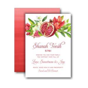 Watercolor Pomegranate Jewish New Year Card Icon